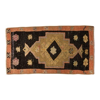 1960s Vintage Pastel Turkish Small Rug - 1′9″ × 3′2″ For Sale