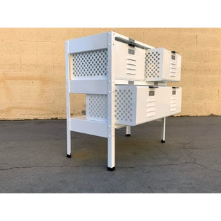 2 X 2 Locker Basket Unit in White on White, Newly Fabricated to Order Preview