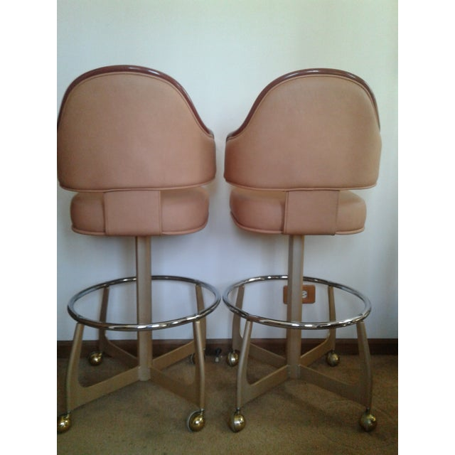 Mid-Century Style Gasser Bar Chairs - a Pair For Sale - Image 9 of 13