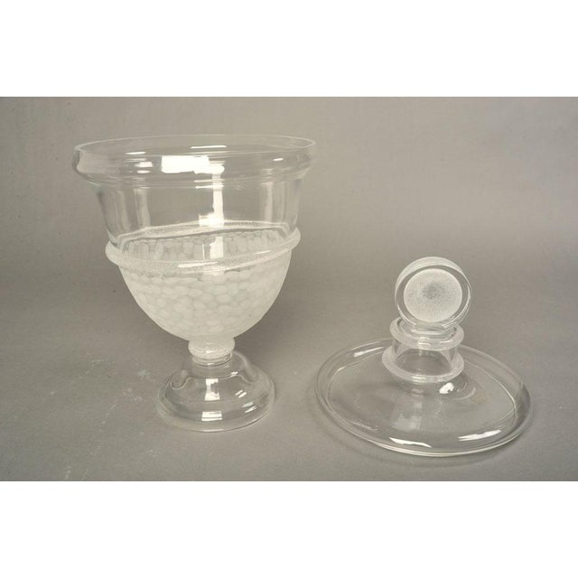 Mid-Century Modern Seguso Vietri Large Glass Apothecary Jar For Sale - Image 3 of 9