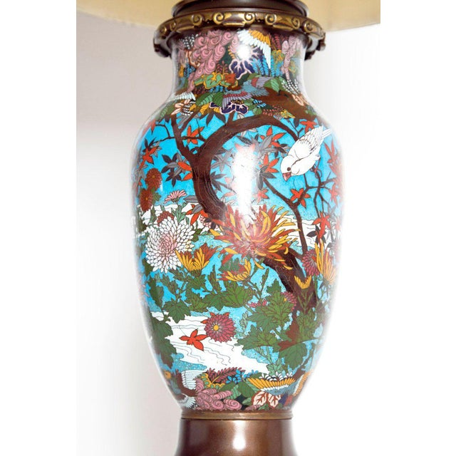 Late 19th Century Late 19th Century Japanese Meiji Cloisonne Vase as Custom Lamp For Sale - Image 5 of 13