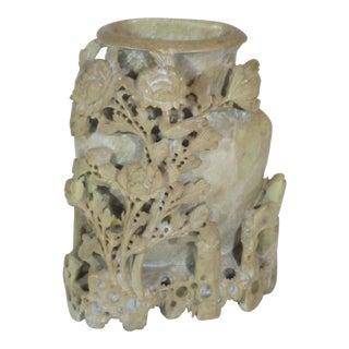 Large Soapstone Vase For Sale