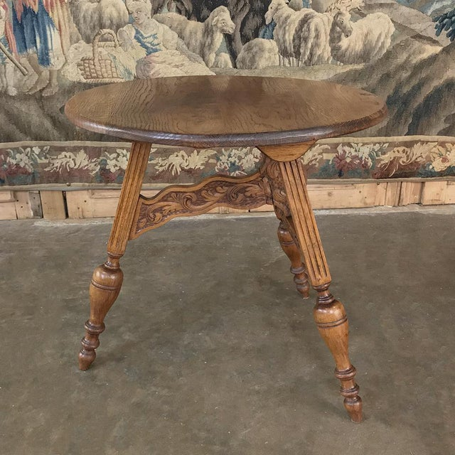 19th Century Round Tripod Folding End Table For Sale - Image 13 of 13