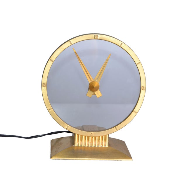 Brass Jefferson Golden Hour Electric Clock For Sale - Image 7 of 7