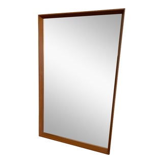 1960s Vintage Pedersen & Hansen Teak Mirror For Sale