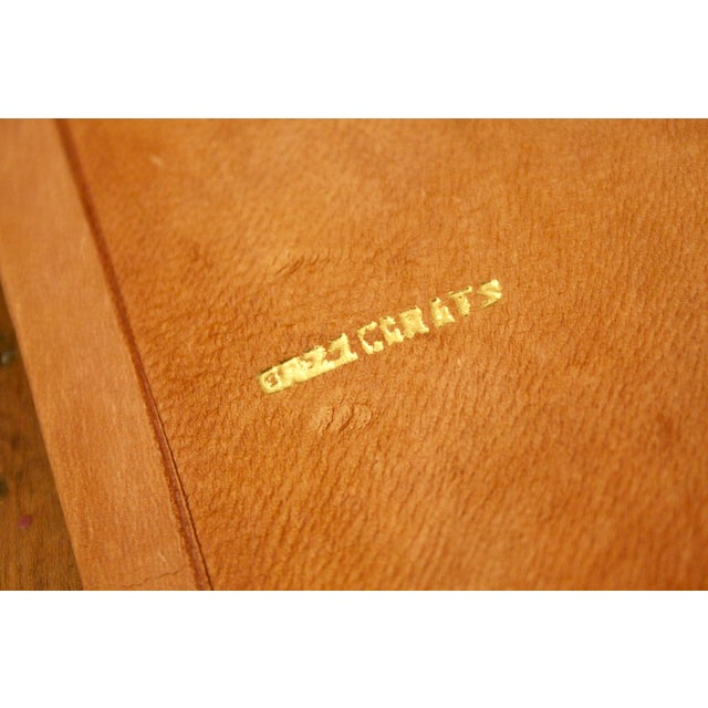 Gold Stamped Moroccan Leather Book Covers - A Pair For Sale In Dallas - Image 6 of 11