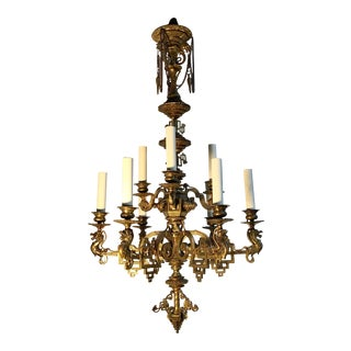 French Napoleon III Bronze Chinoiserie Chandelier For Sale