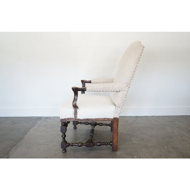 French Antique Arm Chair For Sale - Image 3 of 10