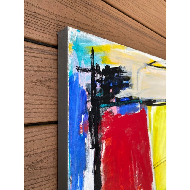 """""""Spare Change"""" Contemporary Abstract Mixed-Media Painting by Sarah Trundle For Sale - Image 6 of 8"""