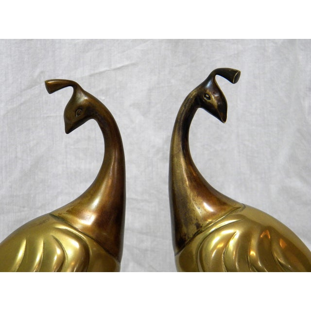 Circa 1980s Brass Peacock Figures - A Pair - Image 4 of 6