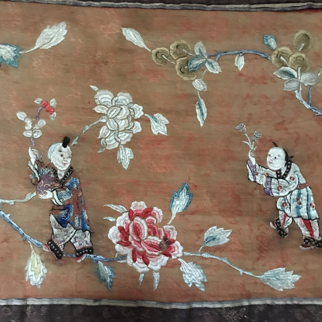 Tapestry - Chinese Vintage Silk - Image 4 of 8