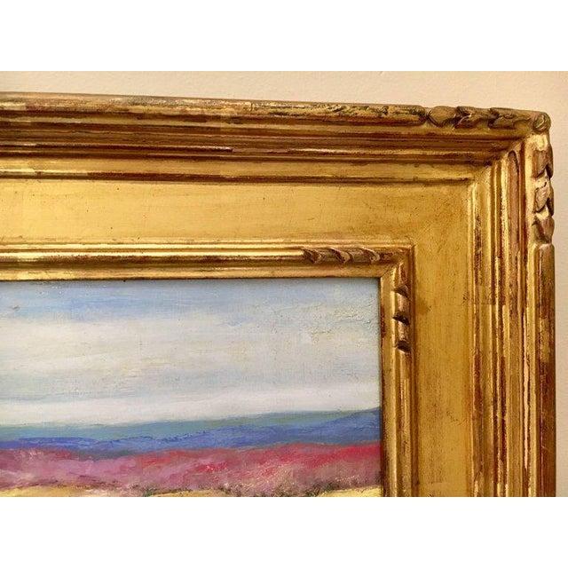 2000s Jeffrey Leitz Original Signed Painting Connecticut Landscape Abtract For Sale - Image 5 of 10