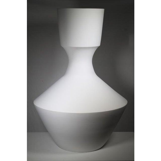 Monumental White Bisque Porcelain Vase - Image 2 of 7