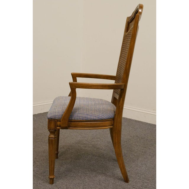 Late 20th Century Late 20th Century Vintage Thomasville Furniture Romano Collection Cane Back Dining Chair For Sale - Image 5 of 10