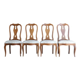 Ethan Allen Maison Splatback Dining Side Chairs - Set of 4 For Sale