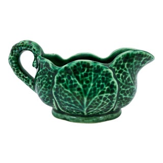 20th Century English Cabbage Gravy/ Sauce Boat For Sale