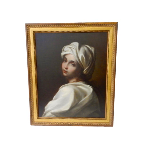 Superb 19th century Oil on canvas Italian hand painted Old master depicting stunning Portrait of Beatrice Cenci after...