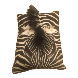 Zebra Skin Pillow For Sale