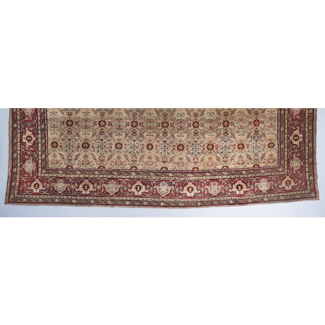Beige Ground Square Agra Carpet For Sale - Image 4 of 6