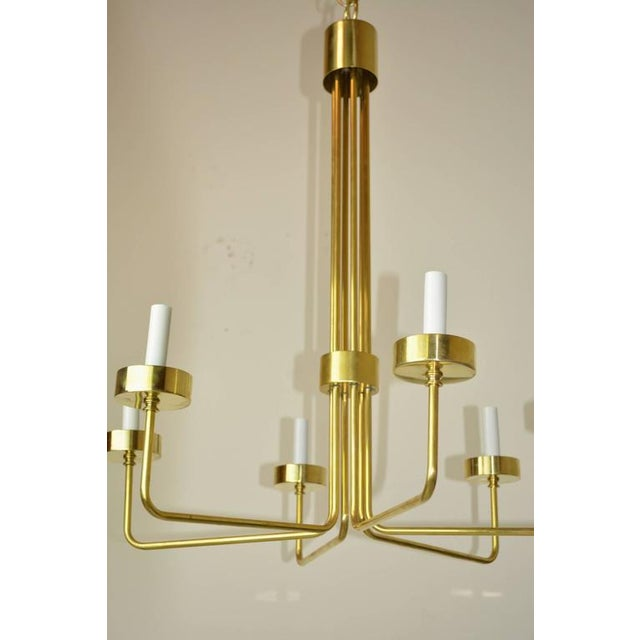 Mid-Century Modern Brass Chandelier by Hart Associates LA For Sale In Palm Springs - Image 6 of 6