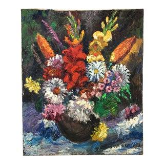 "1960's Impressionist ""Les Fleurs Épanouies"" by Nandor Vagh Weinmann"