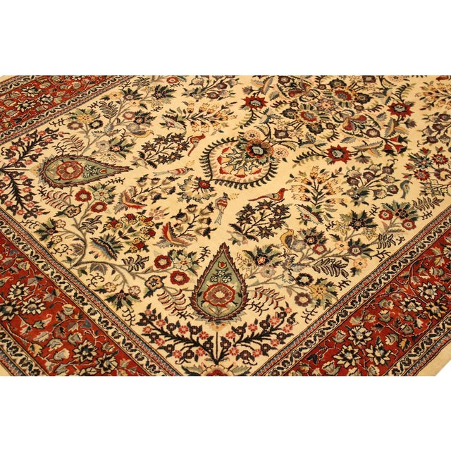 Textile Adil Pak-Persian Alexia Ivory/Rust Wool Rug - 5'1 X 8'2 For Sale - Image 7 of 8