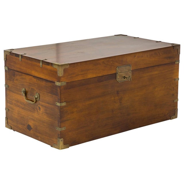 Mahogany and Brass Campaign Chest - Image 4 of 7