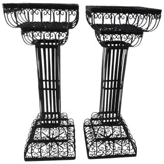 Pair of Victorian Metal Plant Stands For Sale