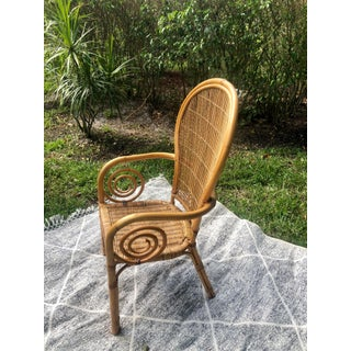 Vintage Bentwood Rattan Wicker and Bamboo Chair Preview