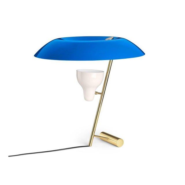 Metal Gino Sarfatti Model #548 Table Lamp in Gray and Burnished Brass For Sale - Image 7 of 12