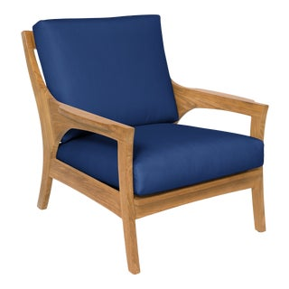 Giati Rinato Lounge Chair in Pacific Blue For Sale