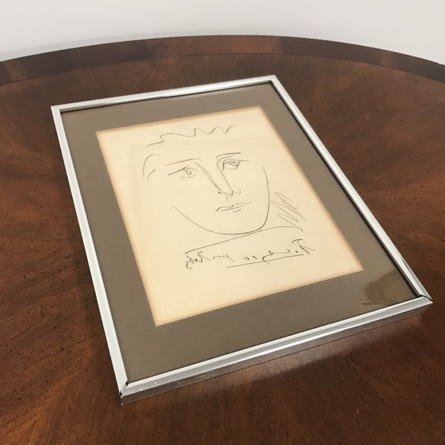 "Here is your chance to own a real Picasso! ""Pour Roby"", a 1950 collectible print by Pablo Picasso. Signed in plate. The..."