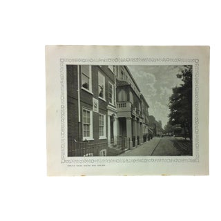 """1906 """"Carlyle House - Cheyne Row - Chelsea"""" Famous View of London Print For Sale"""