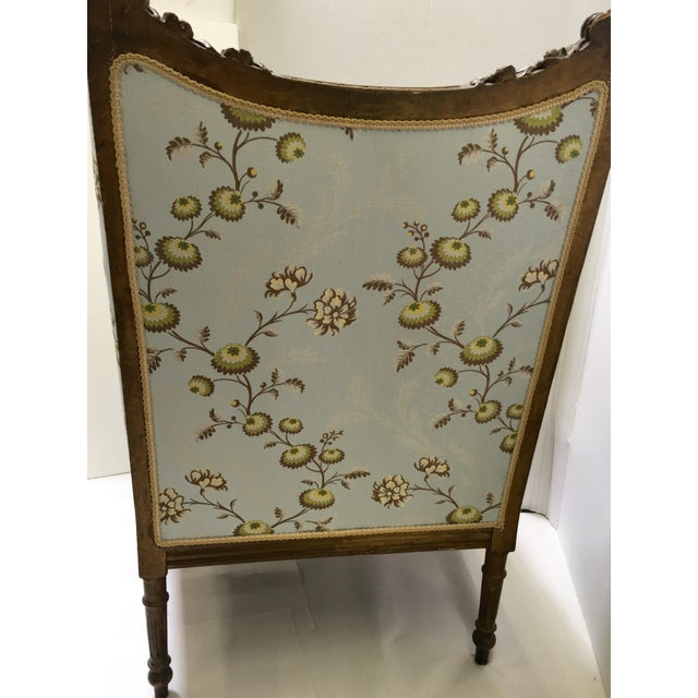 Antique French Wingback Chair - Image 5 of 9