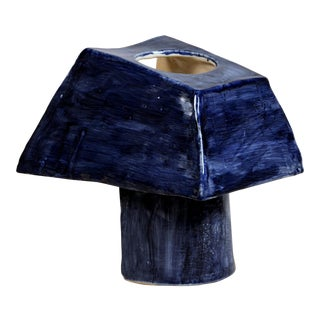 'Trapèze' Sculptural French Studio Ceramic Lamp For Sale