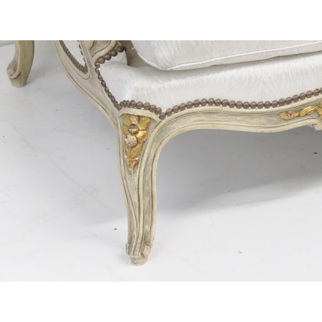 Jansen Louis XVI Style Cream Painted Sofa - Image 3 of 6