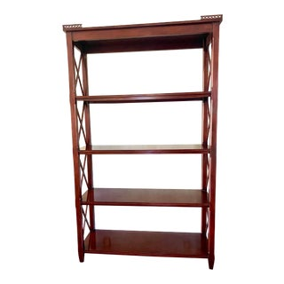 Ralph Lauren for Henredon Scale Chippendale Style Shelving Unit For Sale