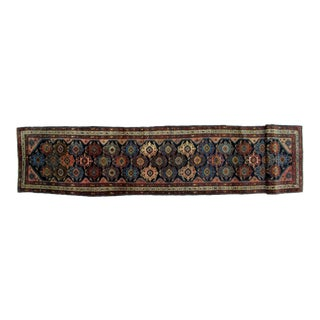 Early 20th Century Antique Bibikabad Rug - 3′ × 13′8″ For Sale