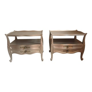 Vintage Silver Nightstands - A Pair