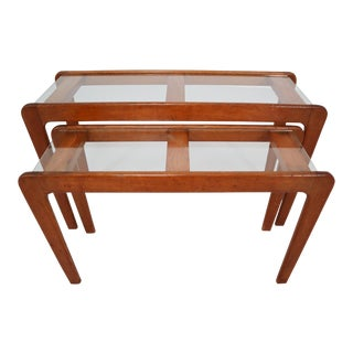 Gigogne Coffee Table Designed by Gustave Gautier - 2 Pieces For Sale