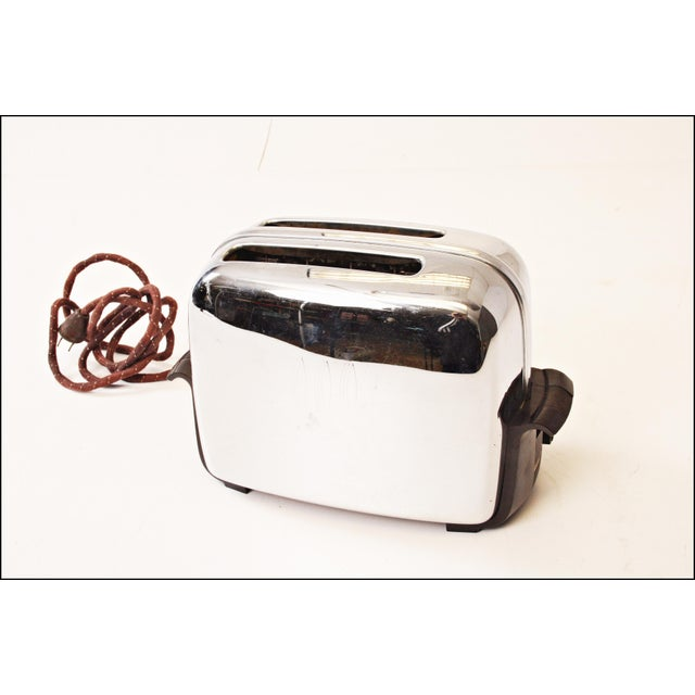 Toaster Plugged In ~ Vintage chrome toastmaster toaster with bakelite handles
