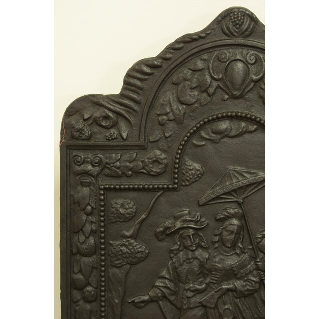 "Very detailed 19th century cast iron fireback showing the abduction of ""EVROPA"" Excellent condition, can be used in a..."