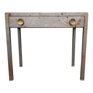 Mid 20th Century Norman Bel Geddes Simmons Industrial Steel Desk For Sale