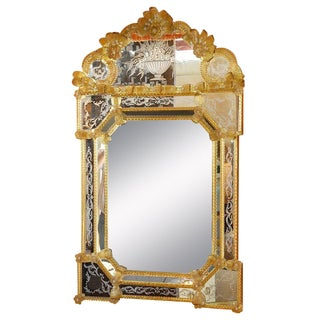 1960s Venetian Gold Wood Mirror