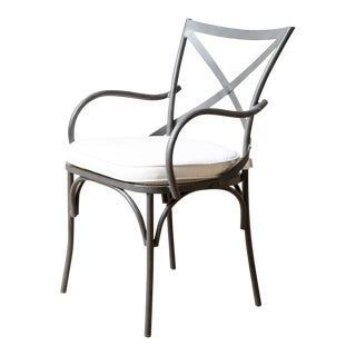 Beverly Outdoor Dining Arm Chair For Sale