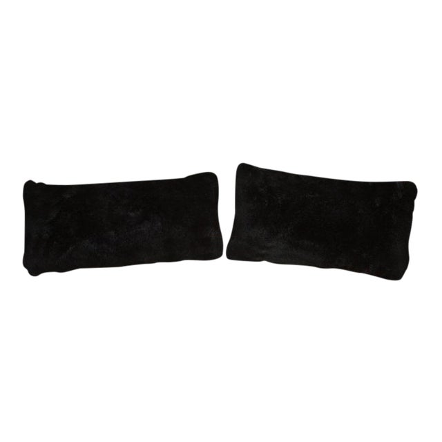 Black Shearling Pillows For Sale