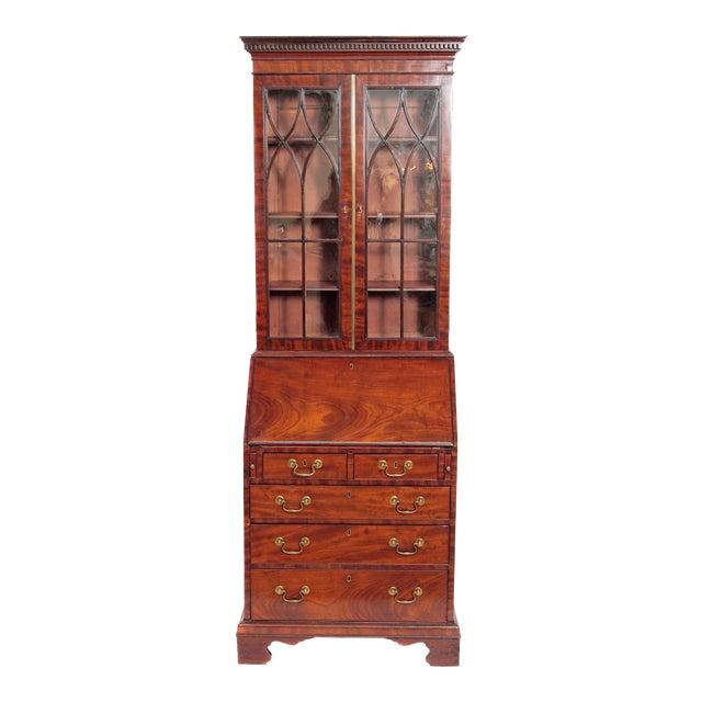 Period George III Secretary Bookcase of Mahogany For Sale