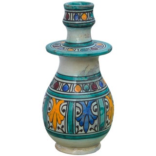 Andalusian Ceramic Candleholder For Sale