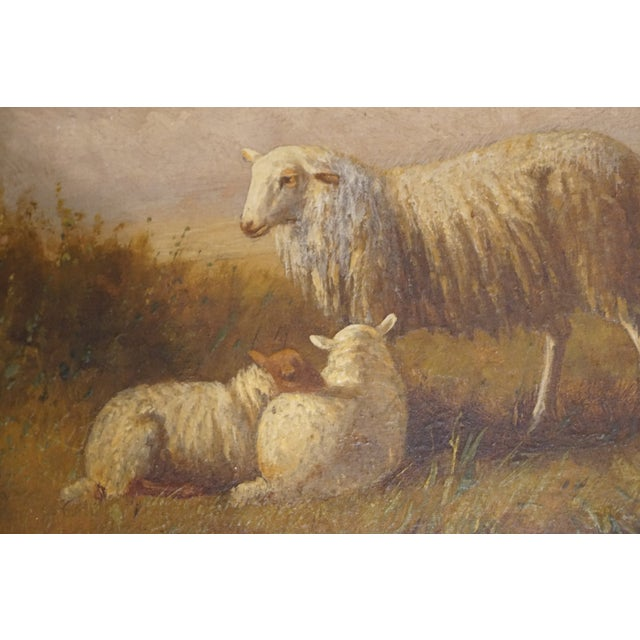 """""""Ewe and Pair of Lambs"""" Painting - Image 4 of 9"""