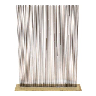 Val Bertoia Linear Three Row Copper and Brass Sonambient Sculpture Usa